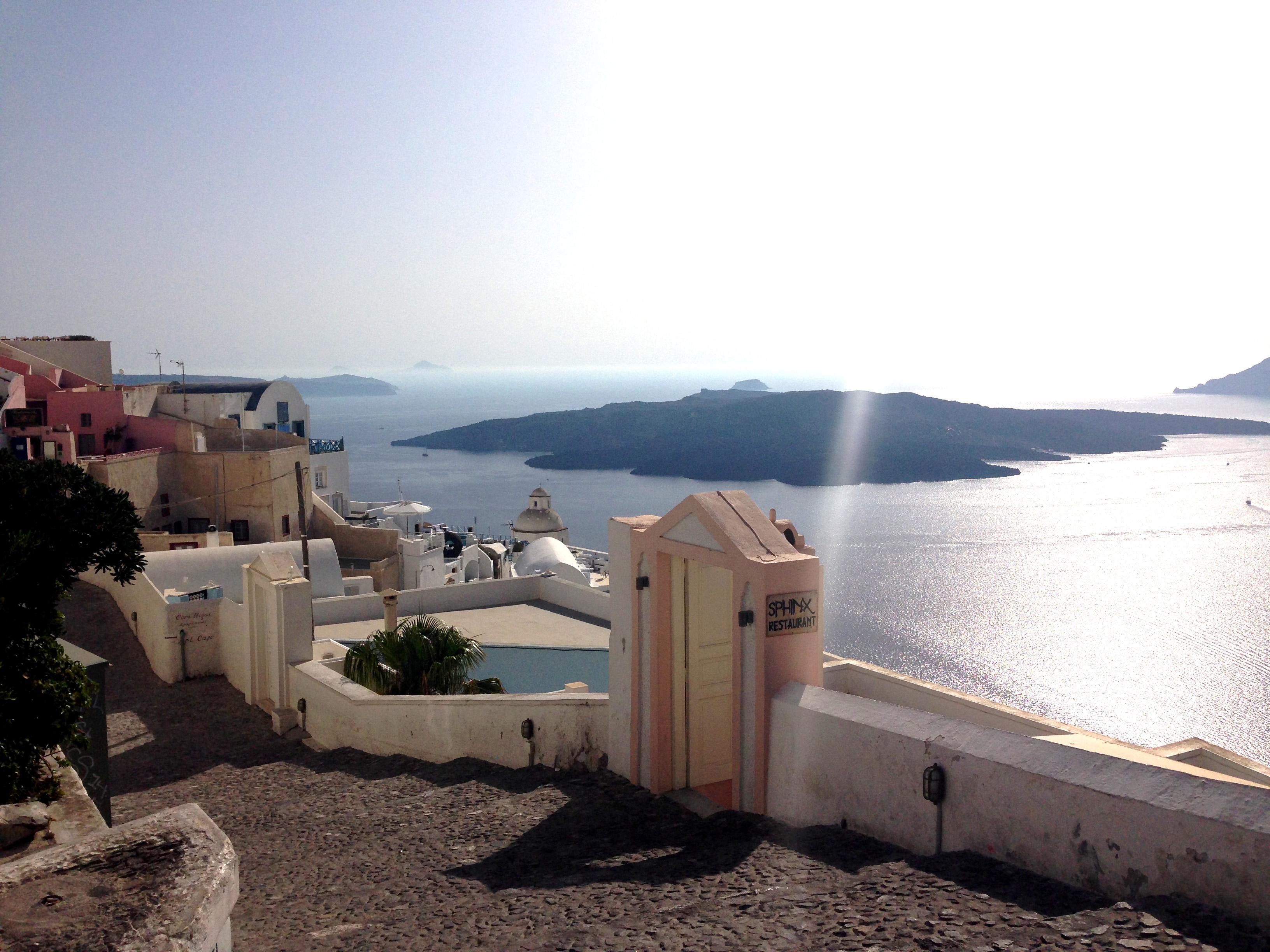 cosa vedere a Santorini: Fira - Vista sulla Caldera