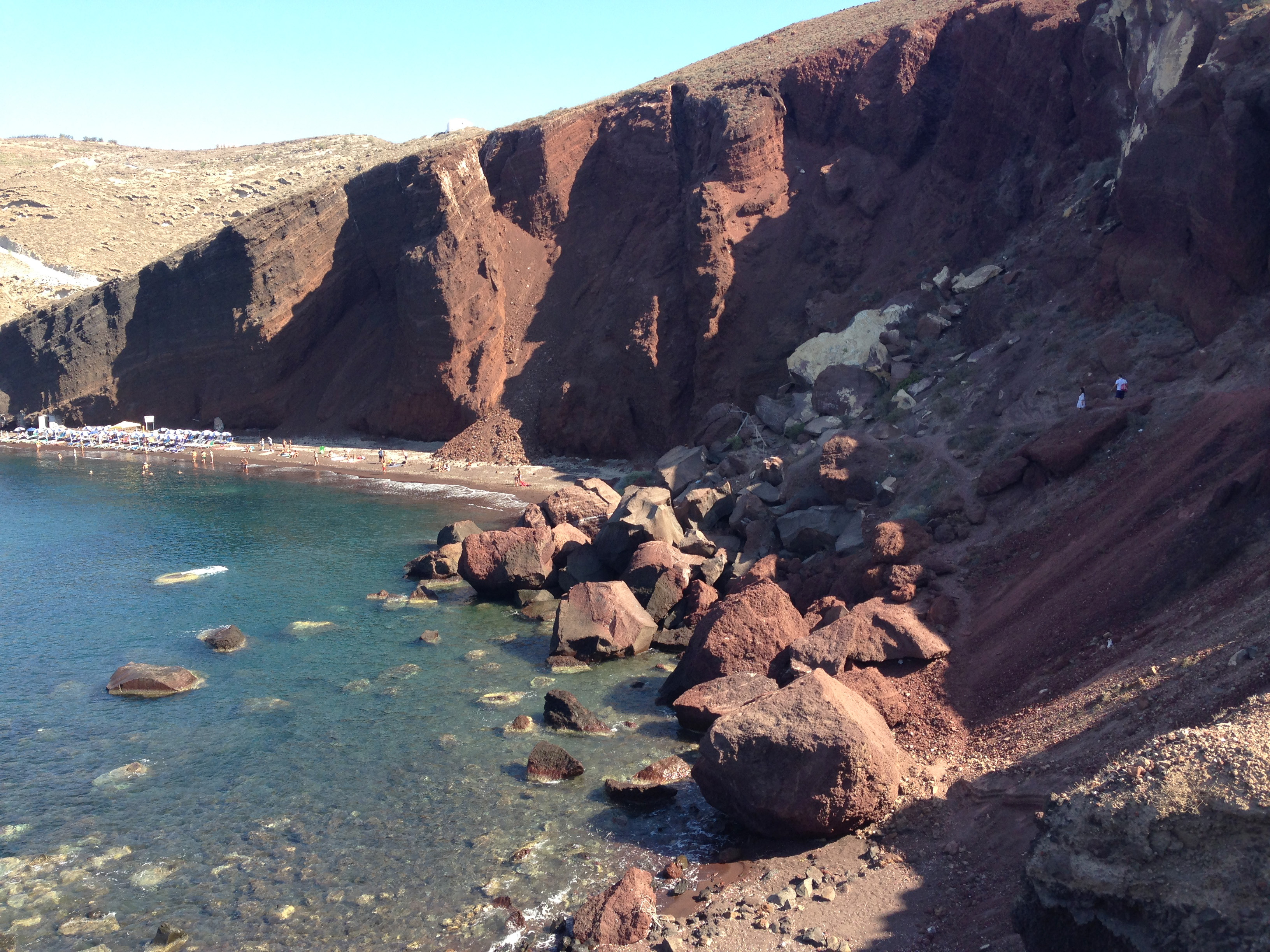 spiagge Santorini: Red Beach