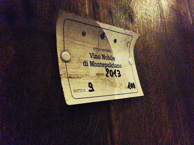 Etichetta Vino Nobile di Montepulciano