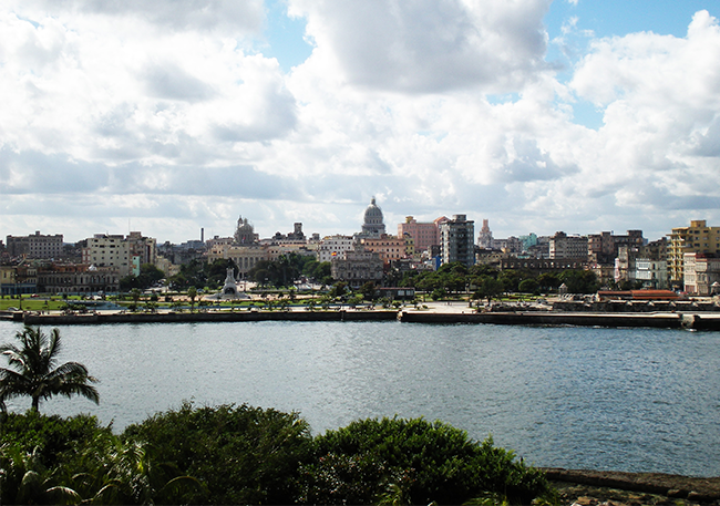 Vista sull'Avana dal castello