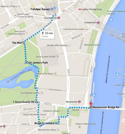 Londra in 4 giorni: itinerario 1.2
