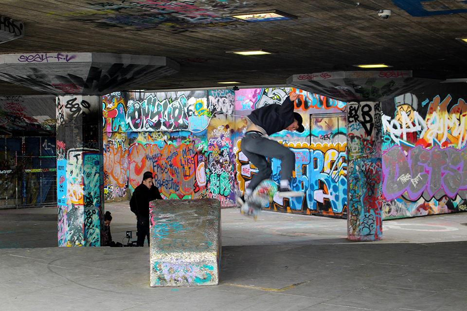 Skaters a Southbank