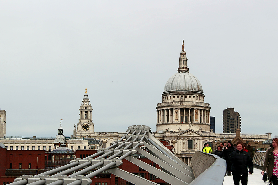 St. Paul's Cathedral dal Millennium Bridge
