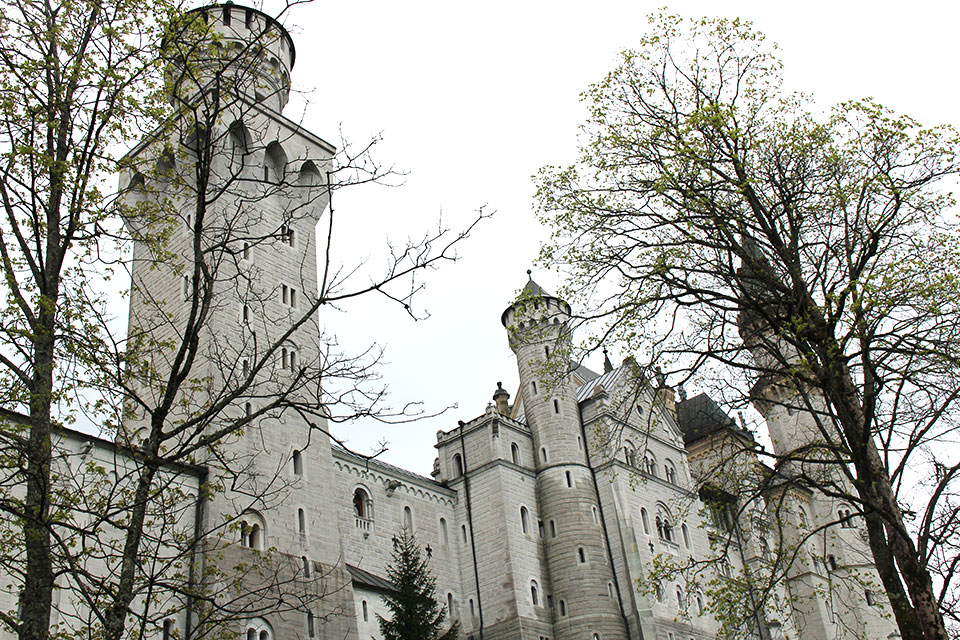 All'entrata del Castello Neuschwanstein