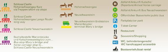 Cartina Castelli della Baviera