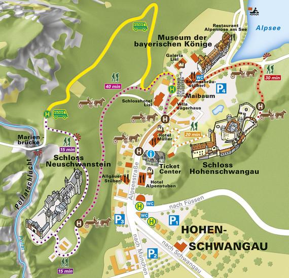 Castelli della Baviera - come arrivare al castello di Neuschwanstein