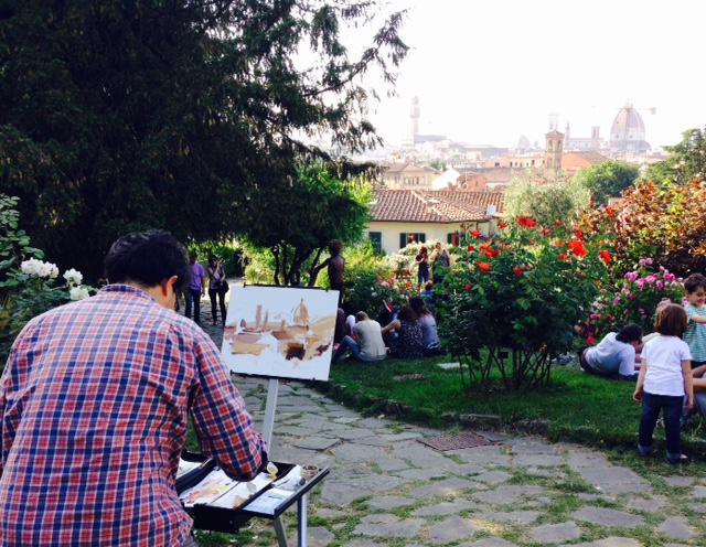 Firenze il giardino delle rose - Disegnare un giardino ...