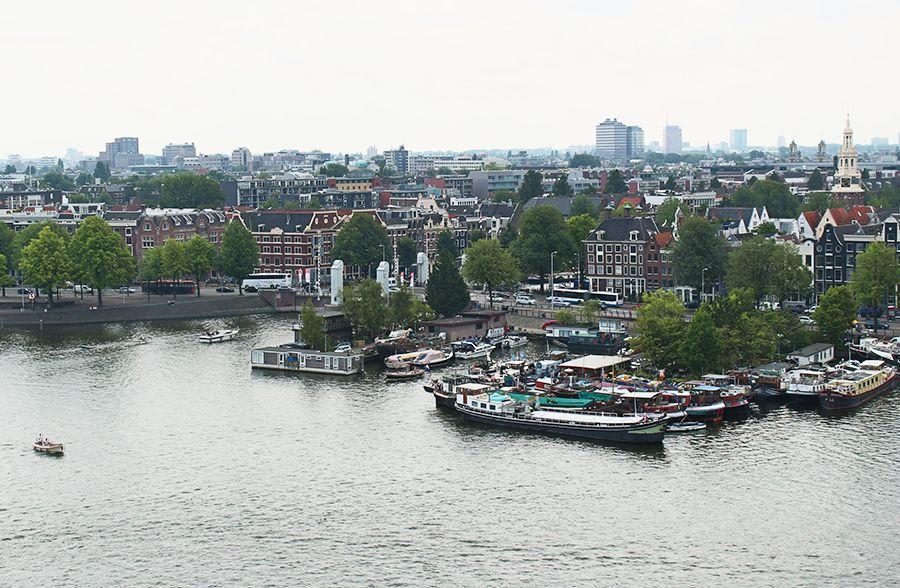 vista dall'amsterdam bibliotheek