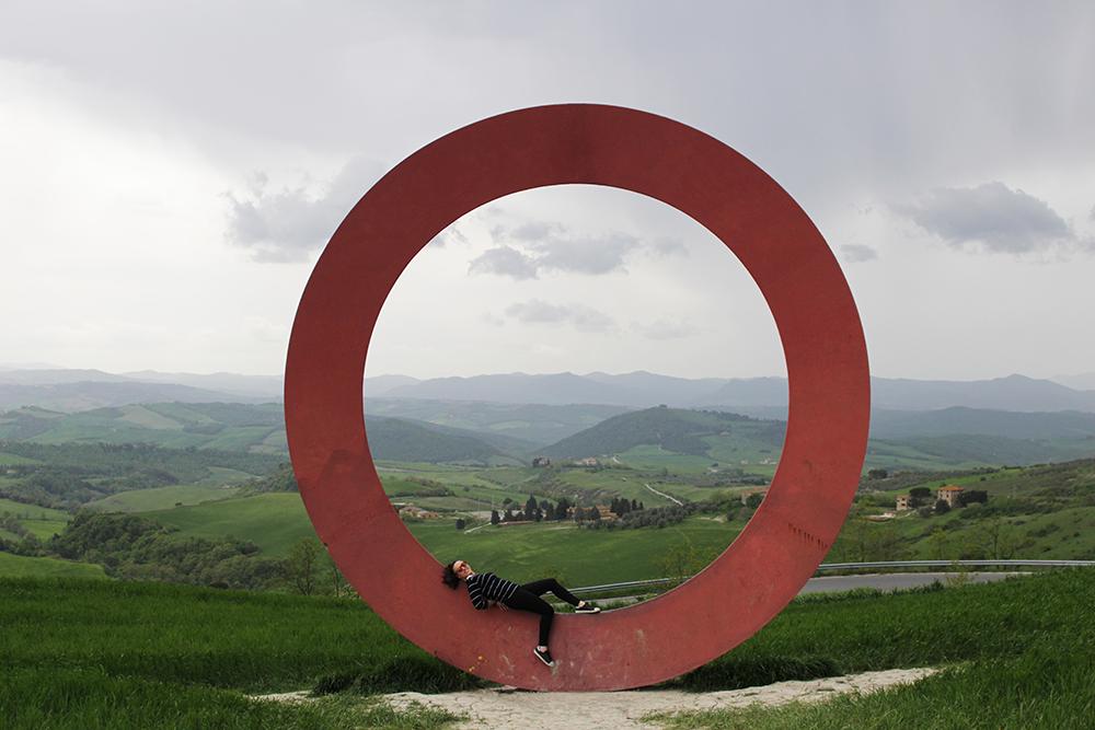 visitare volterra: cerchio di Mauro Staccioli