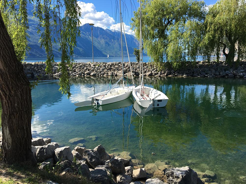 barchette sul lago di Garda