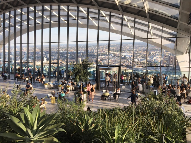 panorama Sky Garden Londra