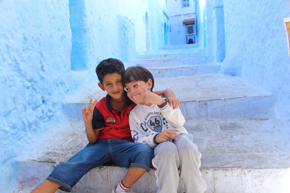 bambini a Chefchaouen
