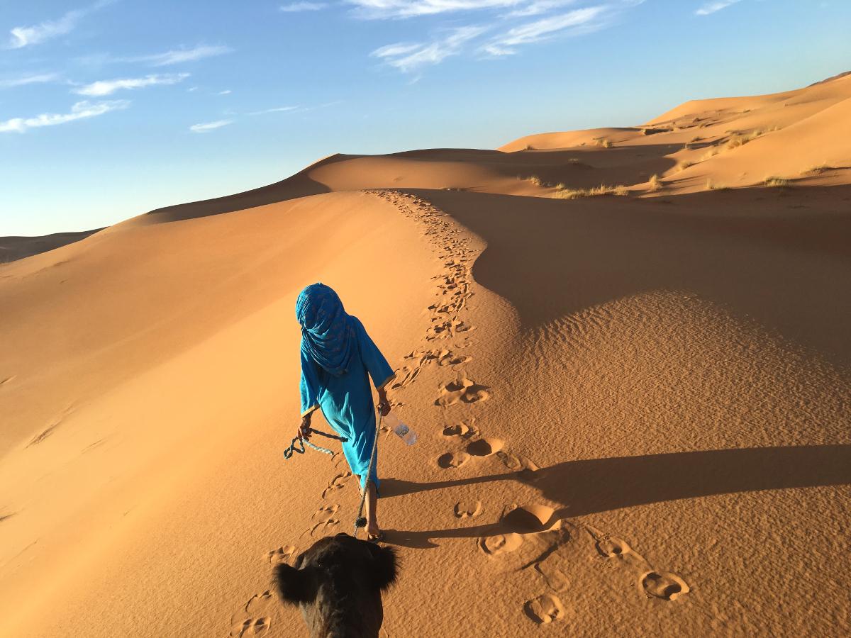 nel deserto di Erg Chebbi