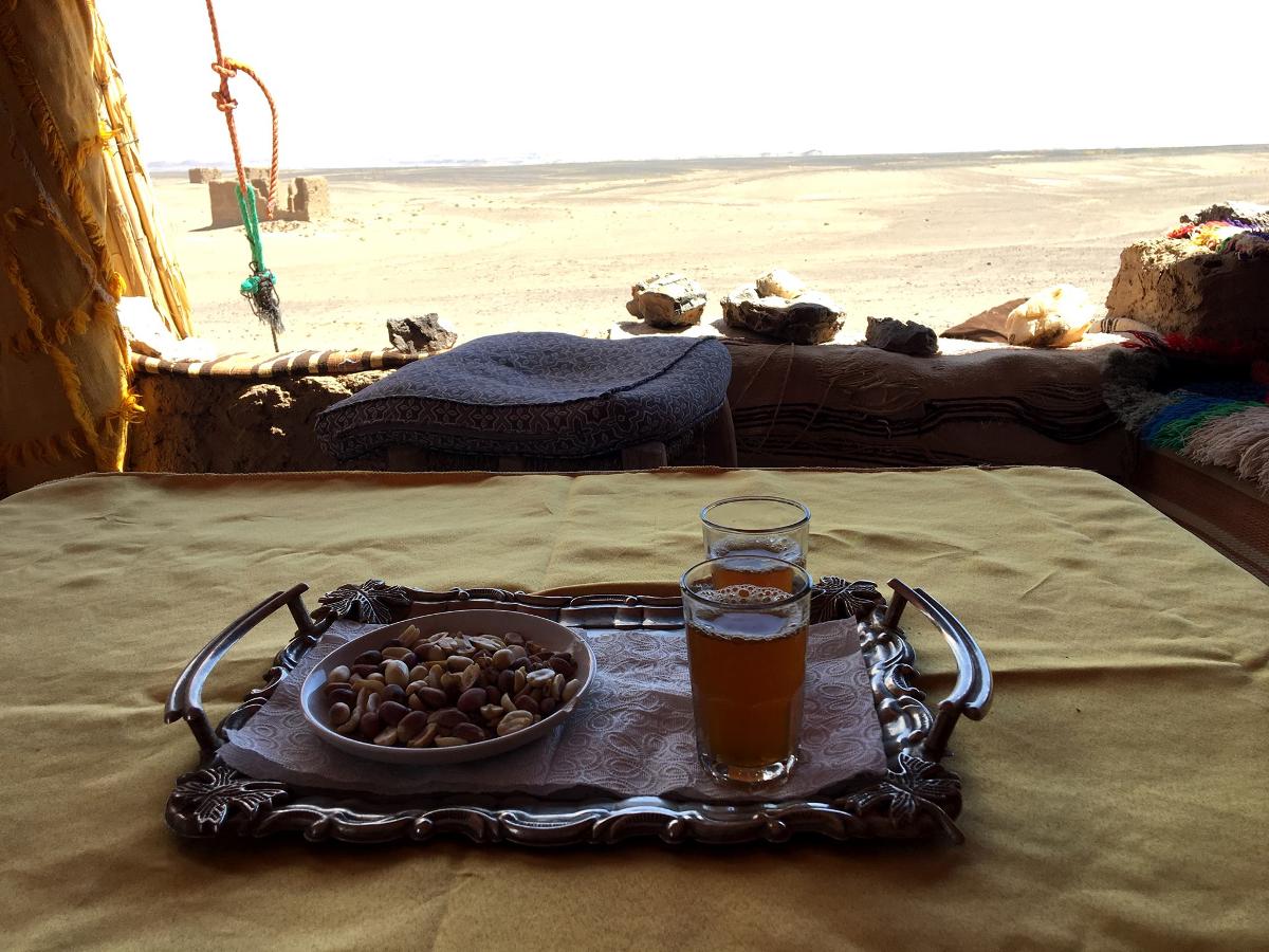 mangiare nel deserto