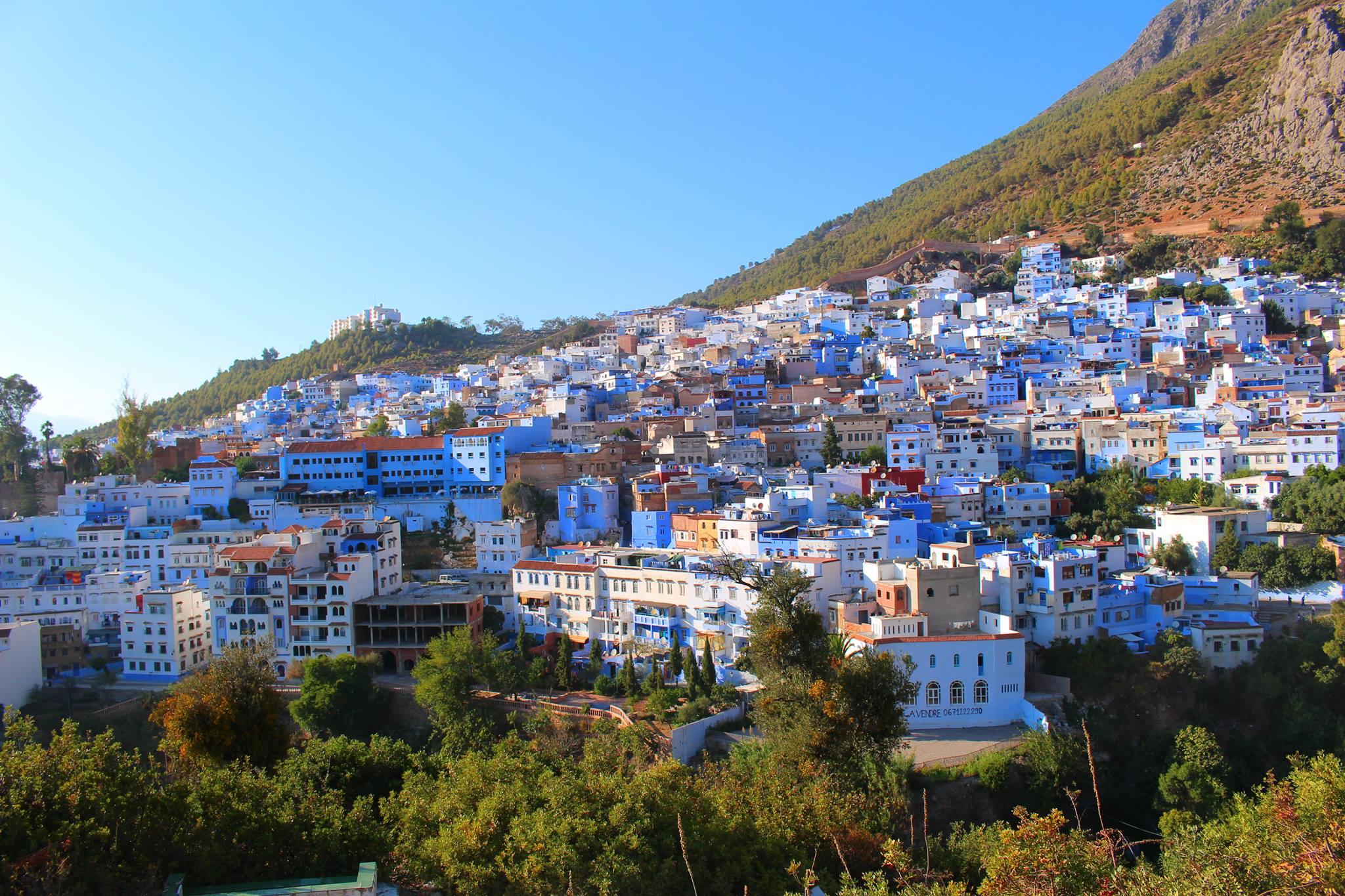 città blu Marocco