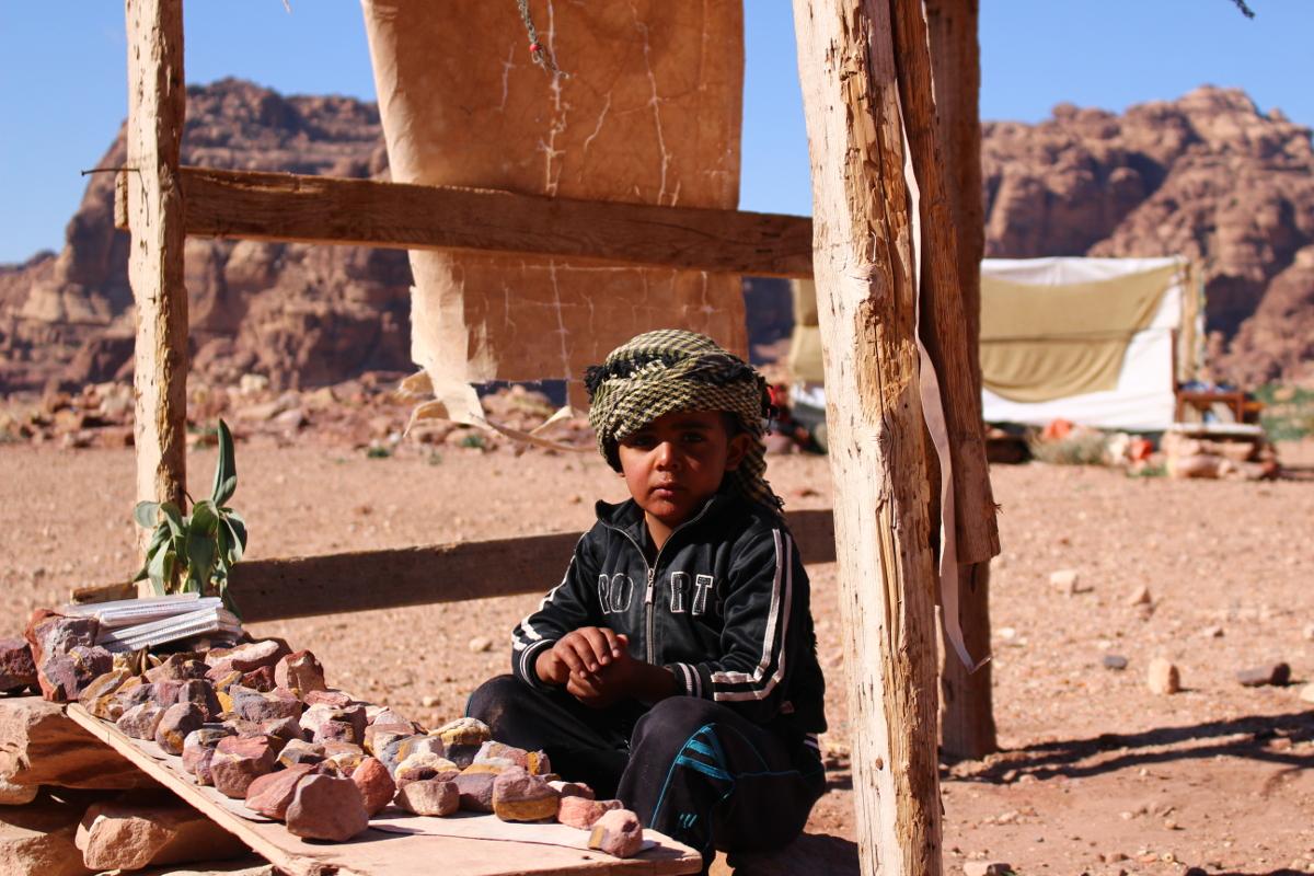 bambino a Petra