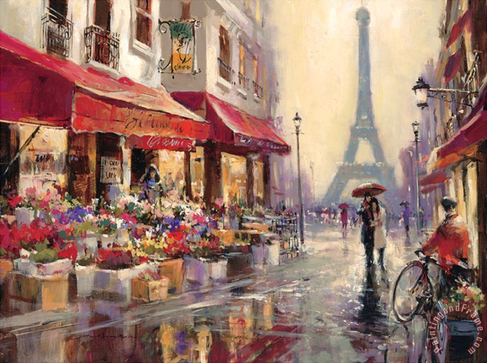 April in Paris Painting by Brent Beighton