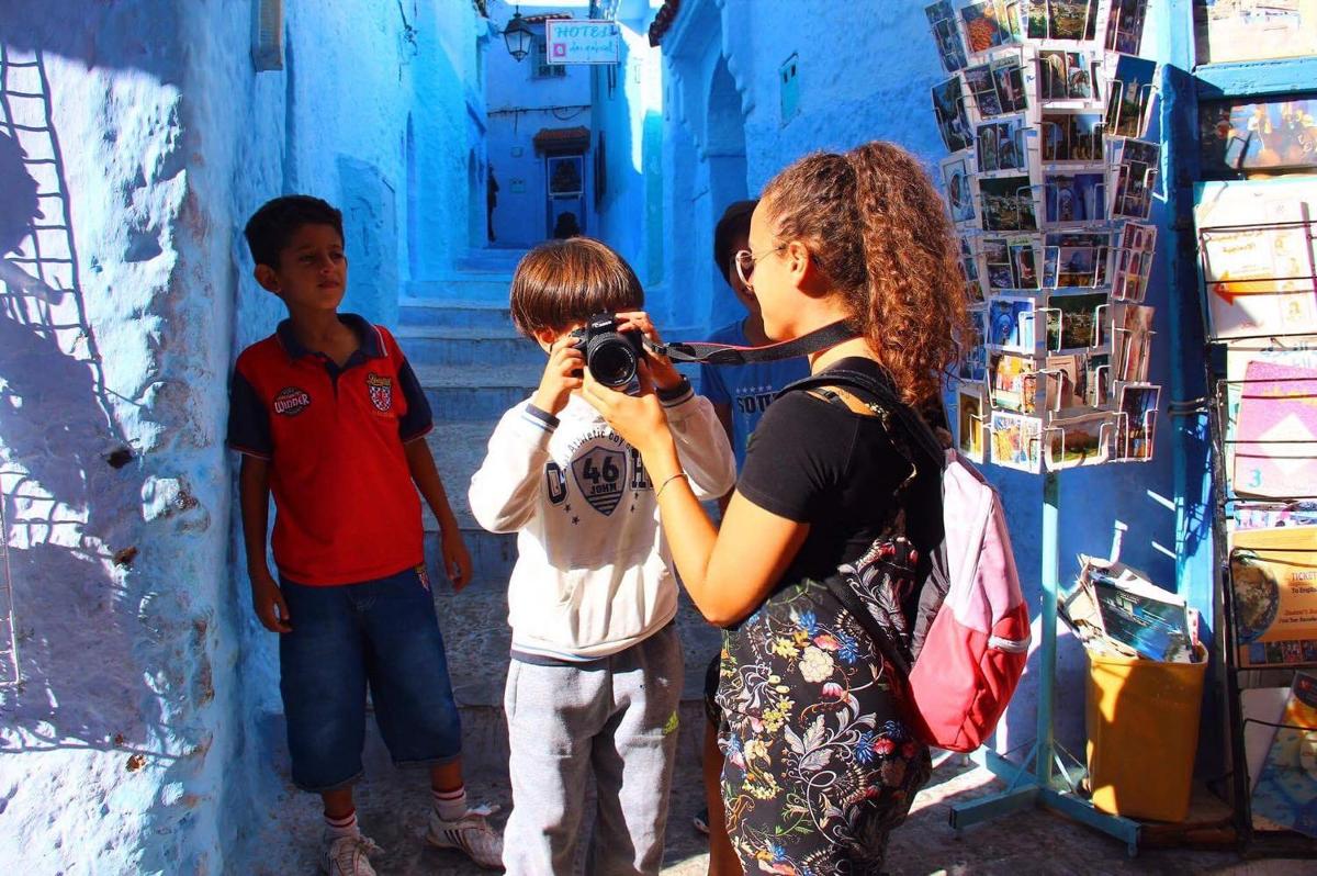 Marocco bambini Chefchoauen