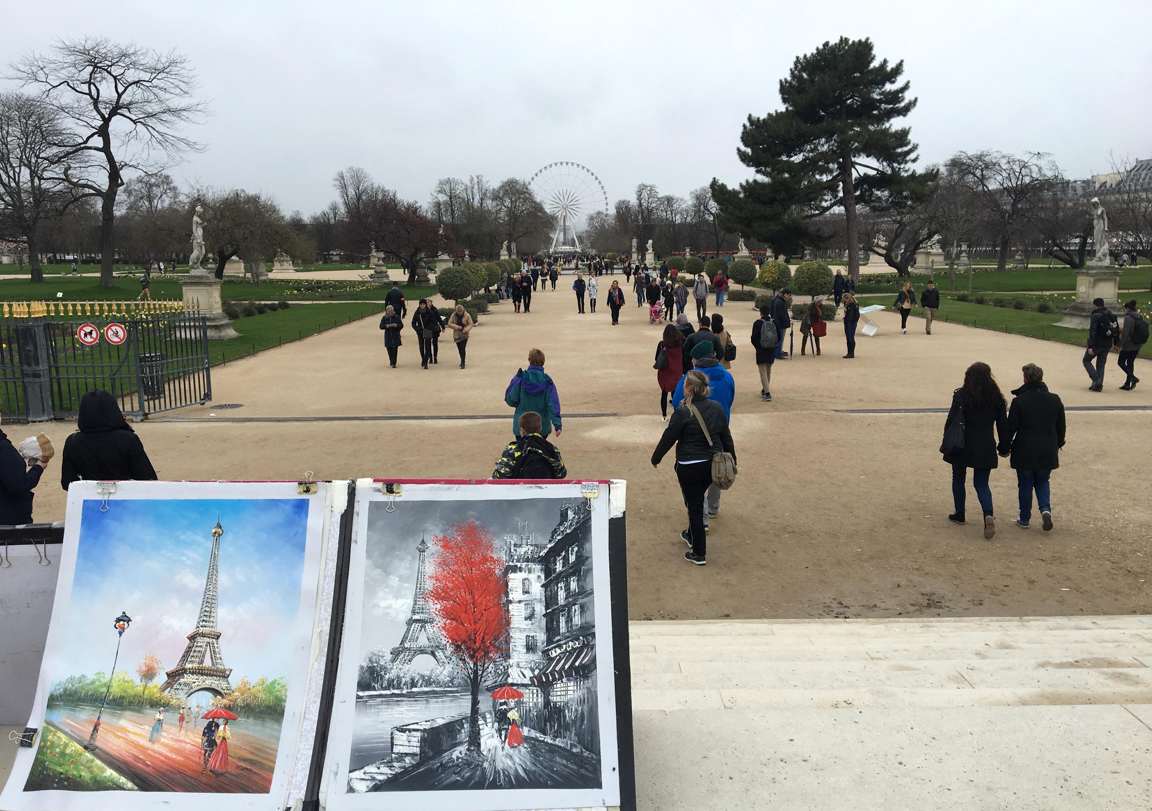 cosa fare gratis a Parigi: giardino Tuileries
