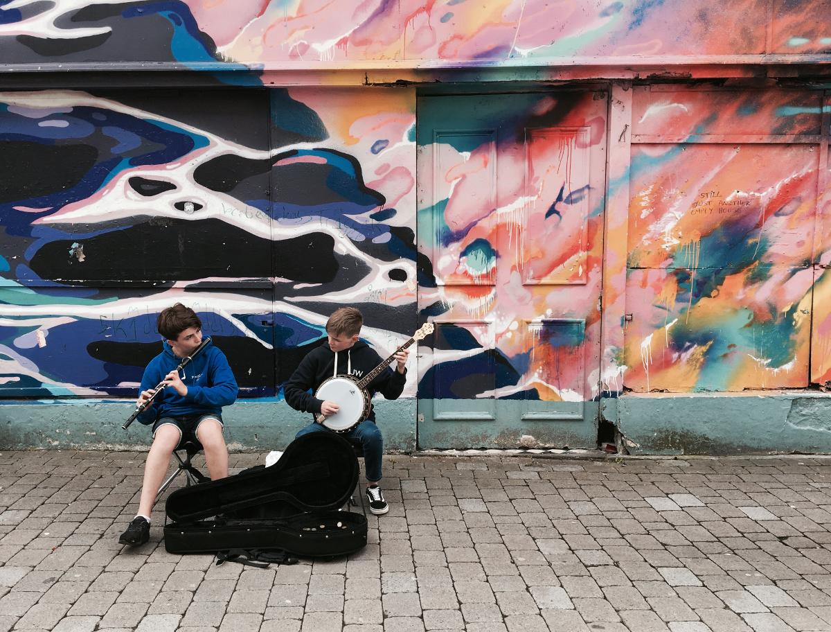 musicisti di strada Galway