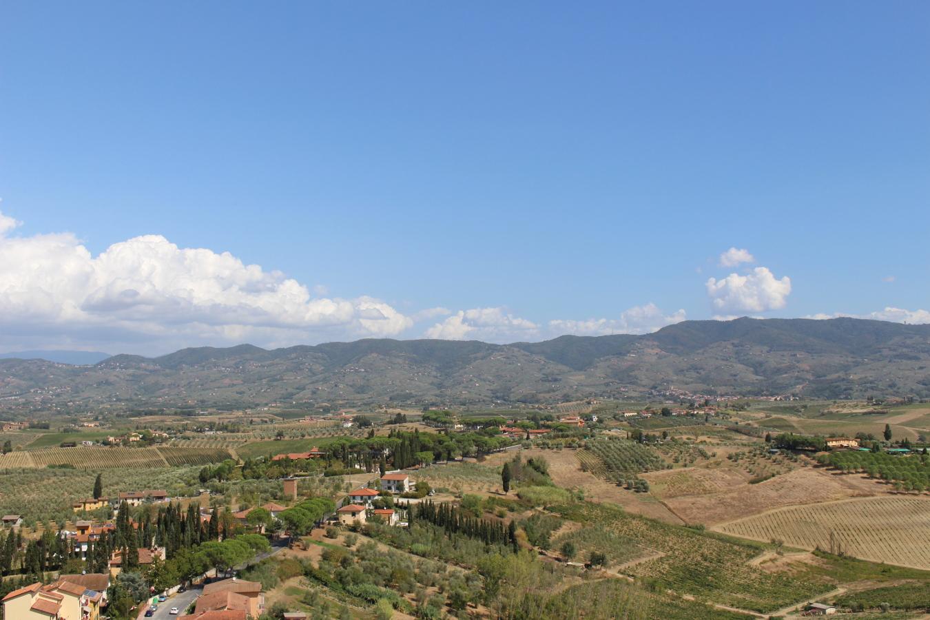 vista dal campanile Cerreto Guidi