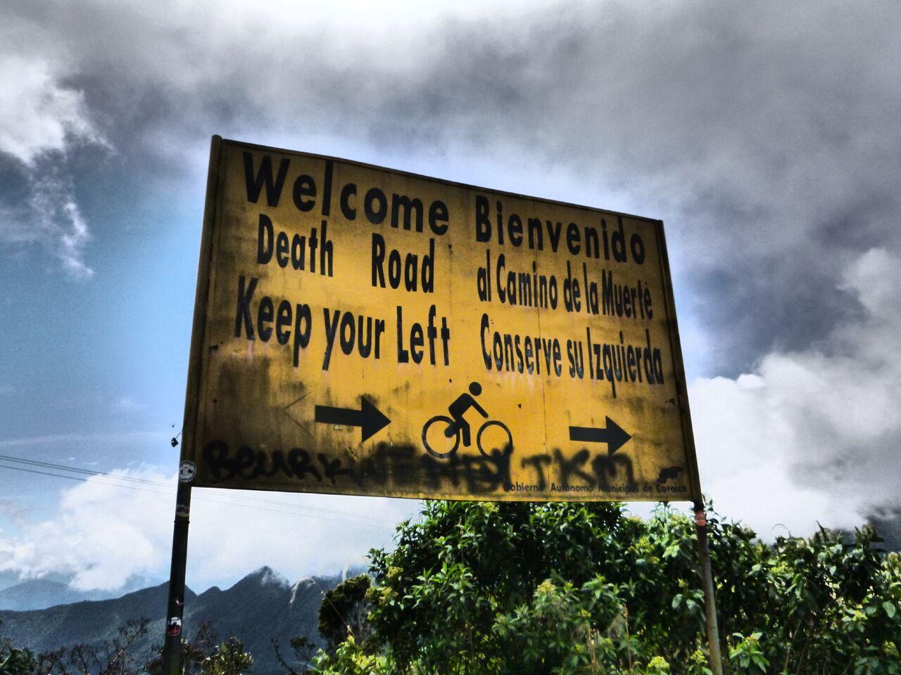 inizio carretera de la muerte