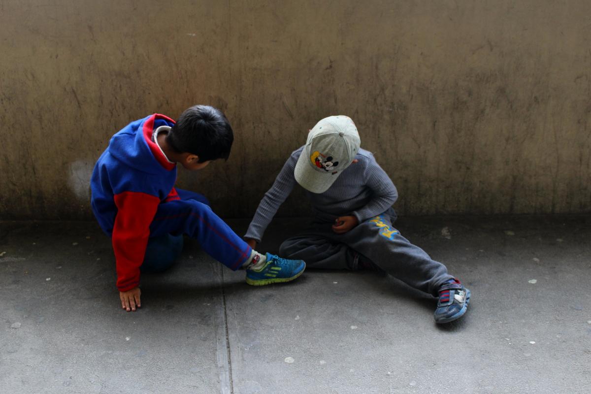 bambini a La Paz