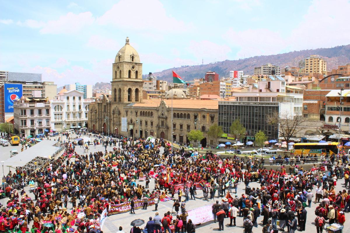manifestazioni plaza san francisco La Paz
