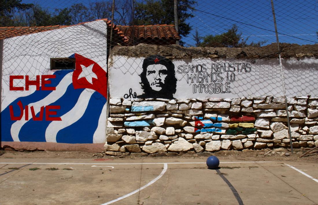 La Higuera murales ruta del Che