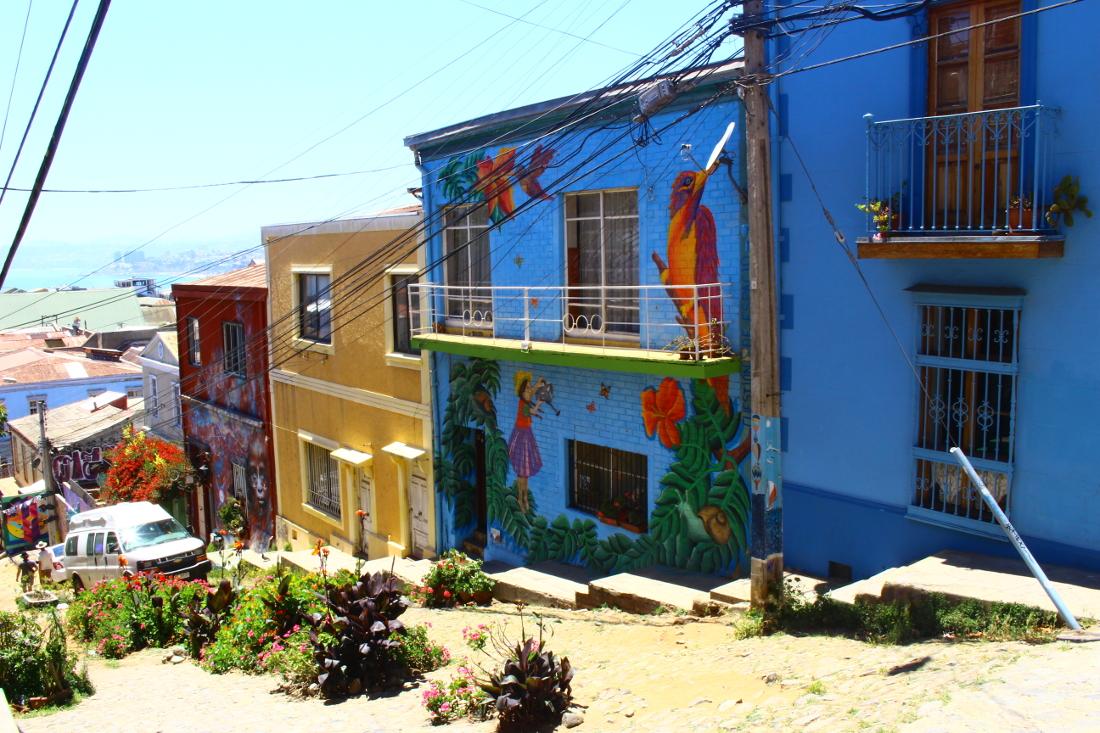 strade valparaiso cile