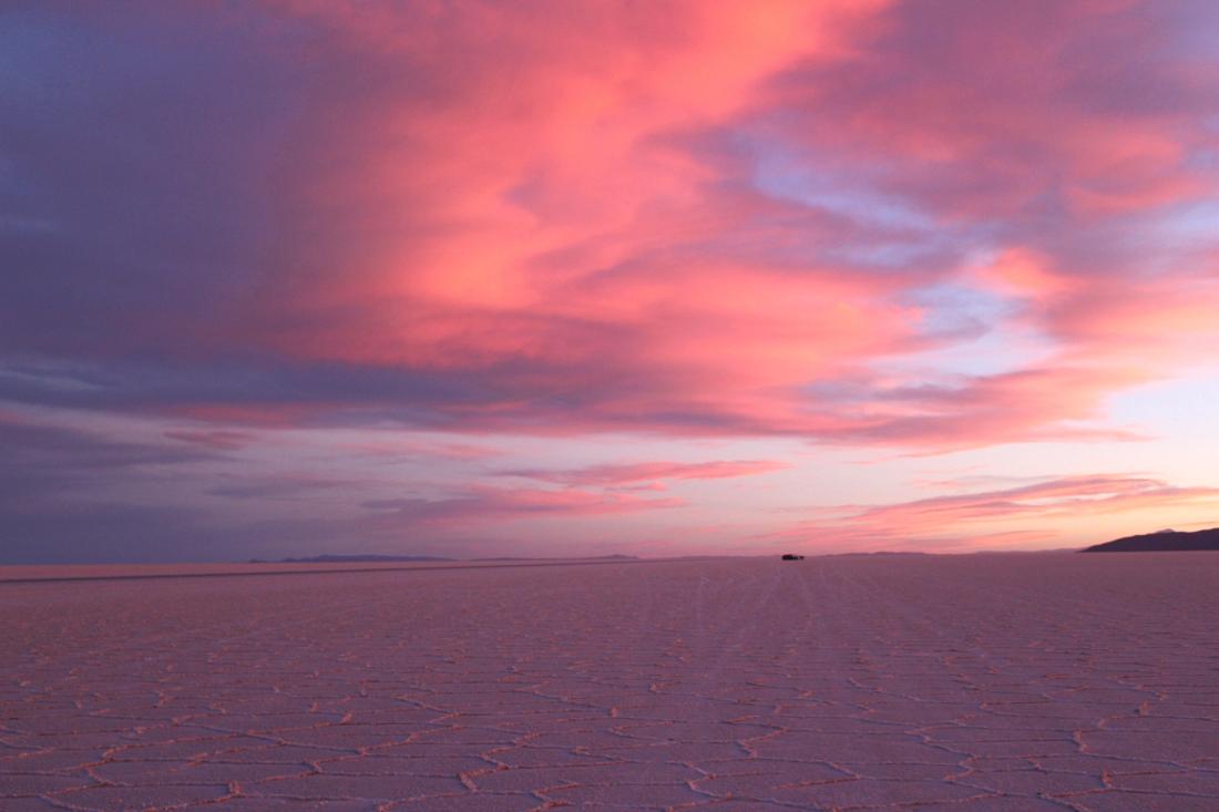 tramonto salar de uyuni
