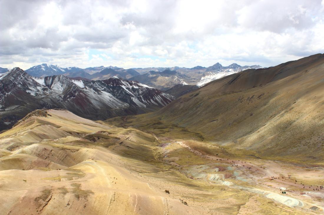 escursione rainbow mountain perù: veduta