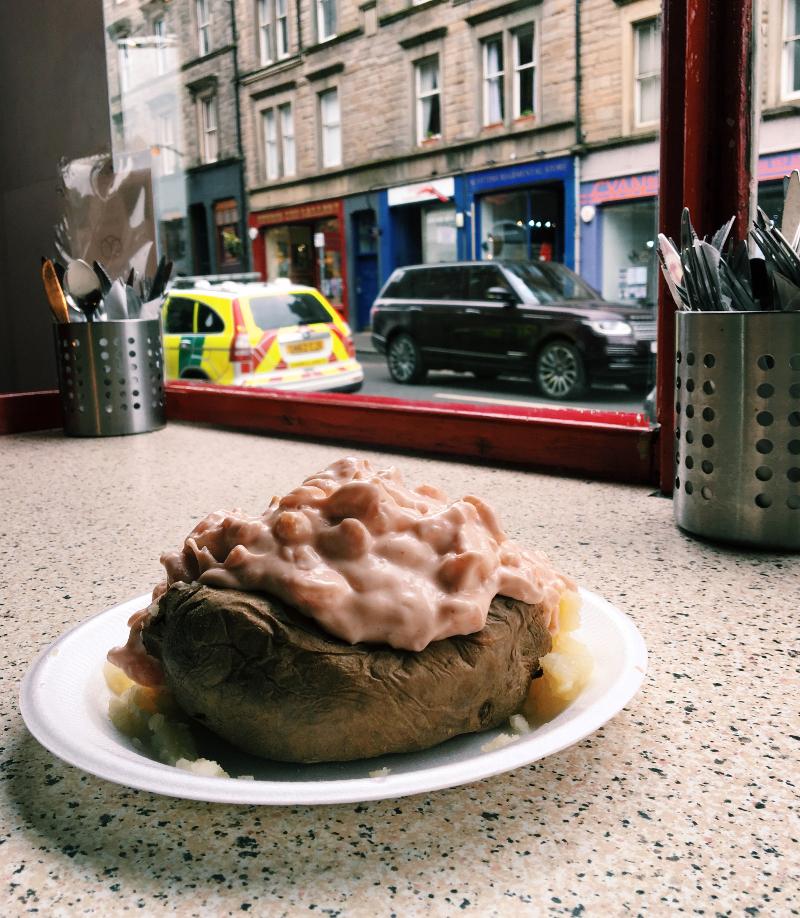 mangiare a Edimburgo: piatto tipico scozzese
