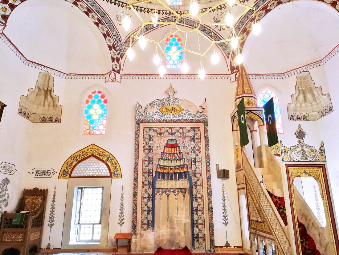 cosa vedere a Mostar: moschea Pašina all'interno