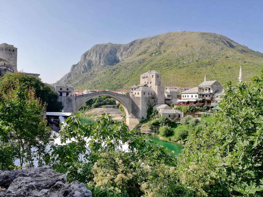 stari most mostar panorama