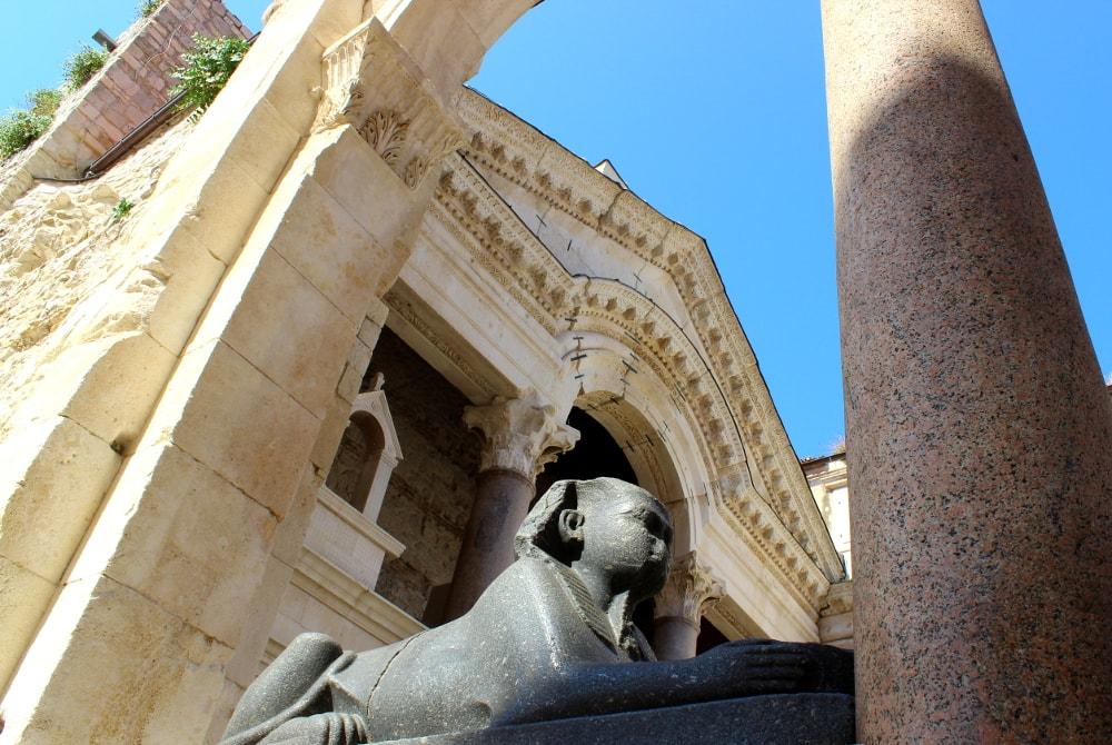 sfinge palazzo diocleziano spalato