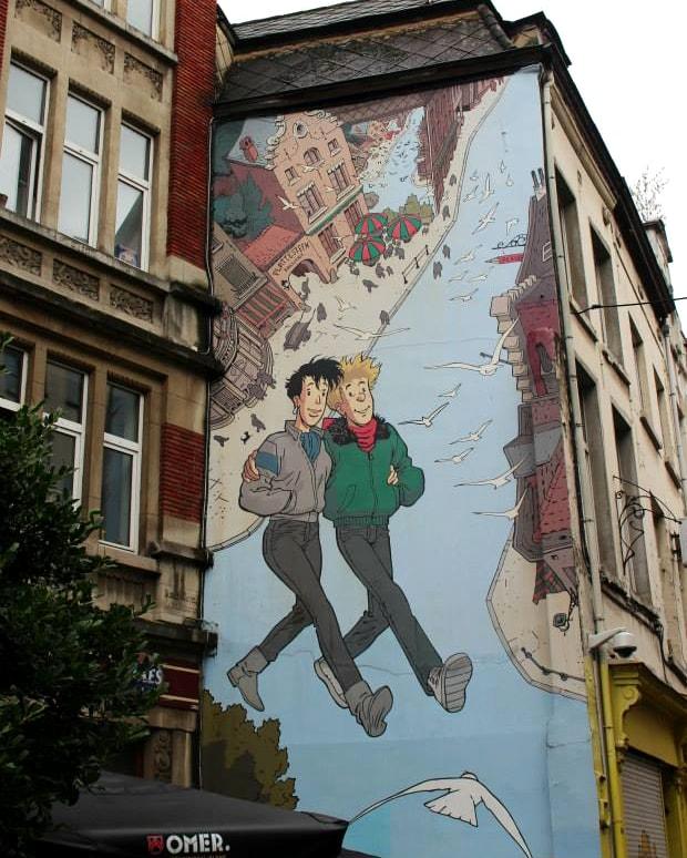 itinerario bruxelles 3 giorni: fumetti
