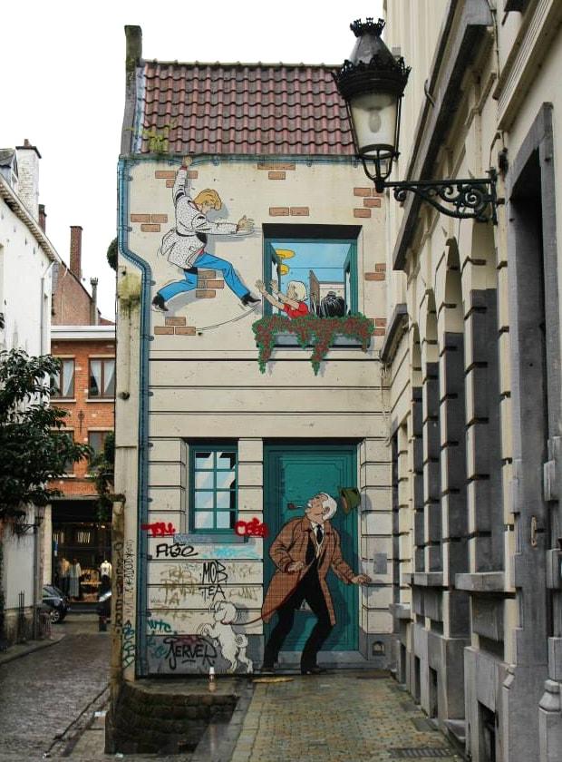 cosa vedere a Bruxelles: murales fumetti