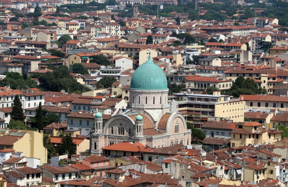sinagoga firenze dall'alto