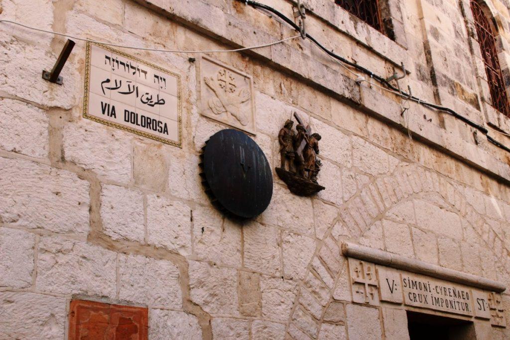 città vecchia di Gerusalemme: via dolorosa