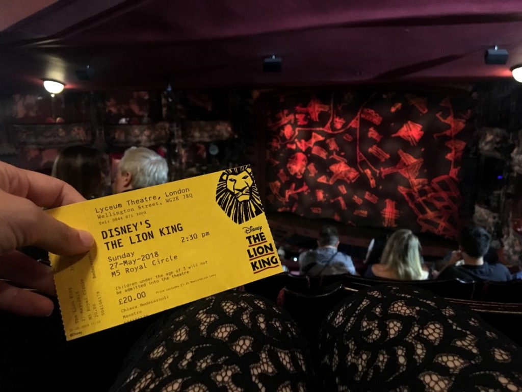londra esperienze: musical a teatro